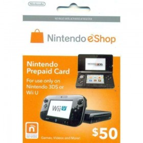 Nintendo Prepaid eShop $50 for 3DS or Wii U  ( US Store )