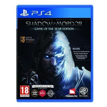 Middle Earth: Shadow of Mordor Game of the Year Edition PS4  PlayStation 4 Games